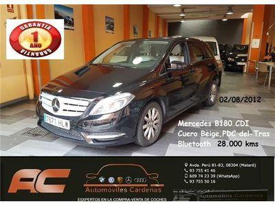 usado Mercedes B180 CDI BE CUERO BEIGE-TEL-SENS APAR DEL Y TRAS 28000K