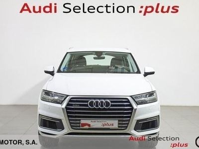 usado Audi Q7 design 3.0 TDI e-tron quattro 275 kW (373 CV) tiptronic Híbrido Electro/Diesel Blanco matriculado el 10/2017