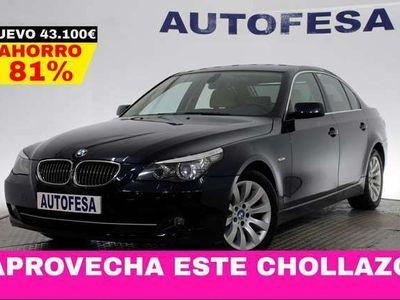 usado BMW 523 Serie 5 i 190cv 4p # NAVY, CUERO, PARKTRONIC, BIXENON, LIBRO