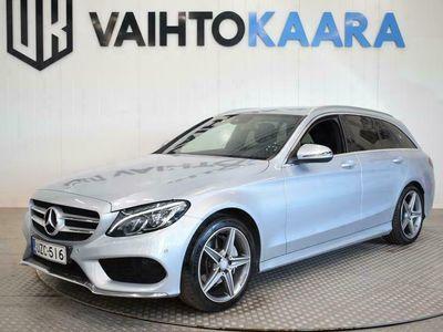 käytetty Mercedes C180 T Aut Premium Edition AMG-STYLE # Suomi-Auto # Navigointi, LED-Ajovalot, Vetokoukku, AMG Ulko- j