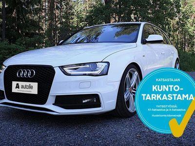 käytetty Audi A4 *SPORTTINEN* Avant 2,0 TDI 140 Land of Quattro Edit S Line. Tarkastettuna, Rahoituksella, Kotiin toi