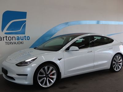 käytetty Tesla Model 3 Performance Dual Motor AWD **KORKO 1.9%!**PANORAMA, TAKUU,AUTOPILOT**