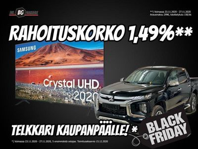 käytetty Mitsubishi Outlander P-HEV BLACK FRIDAY! Korko 1,49%! 2.4 99kW Intense PHEV / TULOSSA!