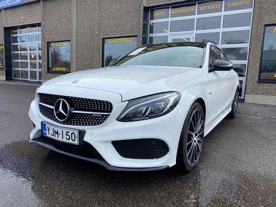 """käytetty Mercedes C43 AMG C AMG3.0 Bi-TURBO 367 HV NELIVETO FARMARI LASIKATTOLUUKKU LED WEBASTO BURMEISTER VETOKOUKKU 19""""AMG AL..."""