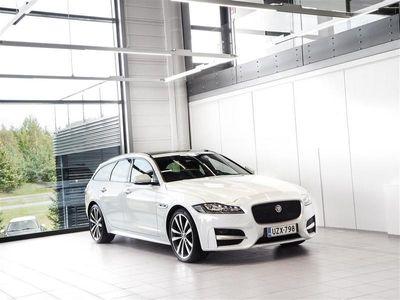 käytetty Jaguar XF Sportbrake 20d AWD R-Sport Aut + Nahat + Navi + Meridian + Webasto + LED-valot + Tutkat
