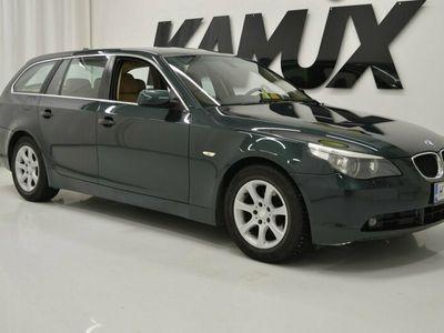 käytetty BMW 525 dA Touring **OXFORDGRUEN 2 METALLIC- ULKOVÄRI, XENON,NAHAT, LEIMAA 8/2020!!**