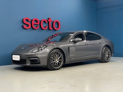 """käytetty Porsche Panamera 4 E-HYBRID Sport-pakoputkisto, 18-suunt.istuimet, Adap.vak.säädin, Lämm.ohjauspyörä, 21"""" Sport Design -vanteet"""