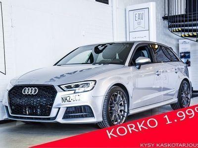 käytetty Audi S3 2,0 TFSI 228 Q S tronic (MY18) B&0, LED, VIRTUAALIMITTARISTO, TÄYSI HK