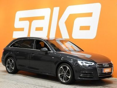 käytetty Audi A4 Avant Business Sport 2,0 TDI 140 kW quattro S tronic S-LINE ### NORMAL FRIDAY -hinta! ### ** LED-ajo