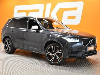 käytetty Volvo XC90 T8 AWD R-Design aut ** ALV / Webasto / Nahka-alcantara / Panorama / Apple CarPlay & Android Auto / Muistipenkit **