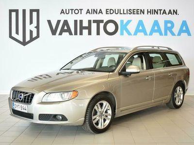 käytetty Volvo V70 D3 Summum Business Autom # Webasto, Sähkötakaluukku, Muistipenkki, Vetokoukku, Pysäköintitutka #