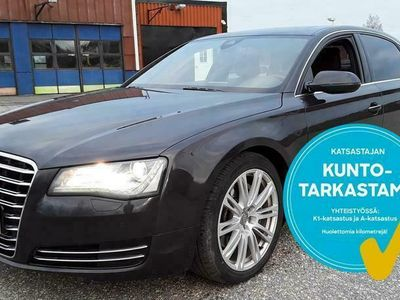 käytetty Audi A8L *HUIPPUVARUSTEILLA*3.0 V6 TFSI q exclusive 213kW Aut. Tarkastettuna, Rahoituksella, Kotiin toimitettuna!