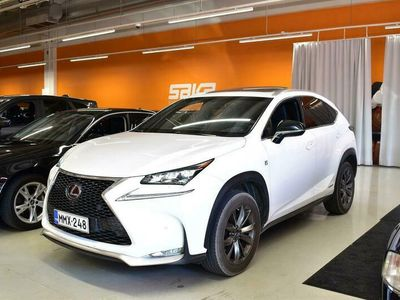 käytetty Lexus NX300h Hybrid A AWD F Sport ** Juuri tullut! / Webasto / ACC / Kattoluukku / Smart Access / Navi **