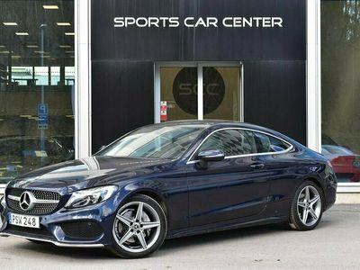 käytetty Mercedes C220 d Coupé AMG Valioyksilö & Juuri Huolettu! Panoraamakatto, Navigointi, Täyd. HK & 2x Renkaat!