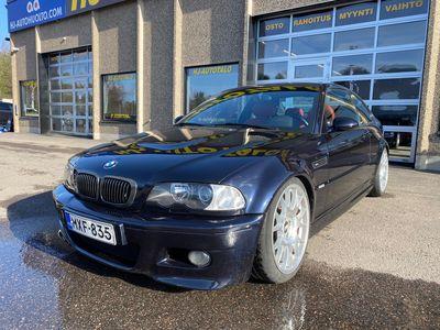 """käytetty BMW M3 E46 3.2 COUPE 342 HV SMG-AUTOMAATTI NAHKASISUSTUS AUT.ILMASTOINTI DSC BREMBO-JARRUT 18"""" BBS"""
