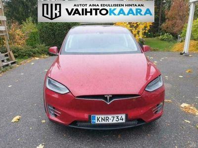 käytetty Tesla Model X 90D 7-paikkainen # Suomi-auto, Autopilot, ilmainen Super Charge, Navi, Vetokoukku, 2 x renkaat, keraaminen pinnoite #
