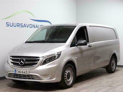 käytetty Mercedes Vito 114CDI 4x4-3,05/34K pitkä A3 A ** LED-VALOT, PERUUTUSKAMERA, VETOKOUKKU, 1-OMISTAJA **
