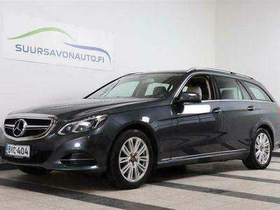 käytetty Mercedes E300 Bluetec T A Premium Business ** TAITTUVA VETOKOUKKU, LASI-KATTOLUUKKU, NAHKA-VERHOILU,**