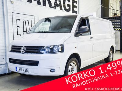 käytetty VW Transporter umpipa pitkä TDI 132 A 4wd BlueM / Juuri huollettu / Pariovet / Koukku / Korko 1,99%