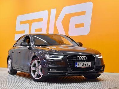 käytetty Audi A4 TDI 2,0 TDI clean diesel 140 kW quattro S tronic S-line ** Suomi-auto / Webasto / Hifi / Nahka-alcantara / Tutkat **