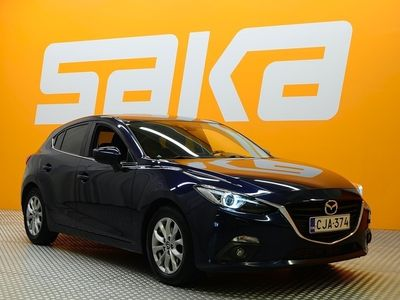käytetty Mazda 3 5HB 2,2 (150) SKYACTIV-D Premium Plus ** Juuri tullut / BLIS / P. tutka / Lohkolämmitin / Bi-xenon / Vetokoukku ...