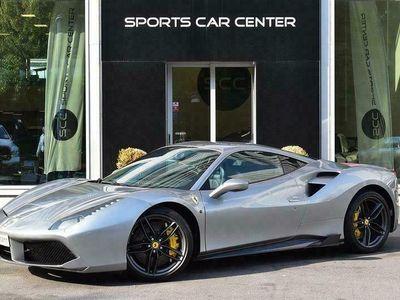 käytetty Ferrari 488 GTB 493kW, Ulkopuolen & Sisätilan Hiilikuitu-paketit, JBL Soundsystem, Kilpaistuimet, Grigio Titanio