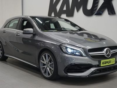 käytetty Mercedes A45 AMG 4Matic / Adapt. vakkari / Harman/Kardon / Panoraama lasikatto / Navi / LED-ajovalot / Neliveto /