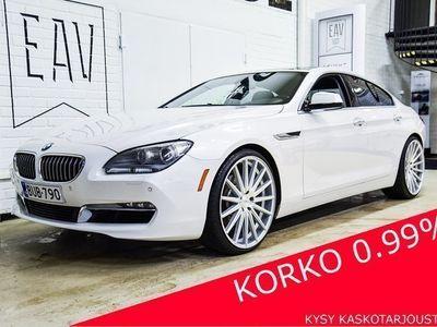 "käytetty BMW 640 i 320hv Aut Gran Coupe KATTOLUUKKU, KEYLESS, P-KAMERA, 22"", MUISTIPENKIT, NAHAT, PROF. NAVI, HIFI, B"