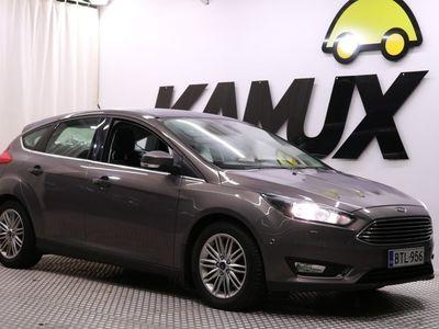 käytetty Ford Focus 1,5 EcoBoost 150 hv M6 Titanium 5-ov / Navi / BT / Vakkari / Parkkitutkat / Lohko /