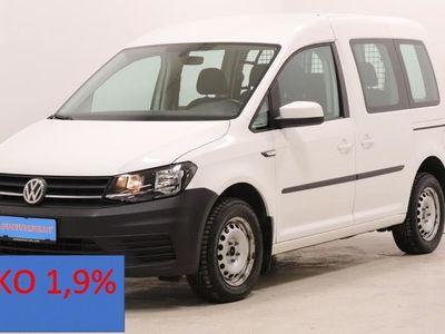 käytetty VW Caddy 1.4TGI(81kw) Bluemotion Kaasu/bensa Hyvin varusteltu Korko 1,9%