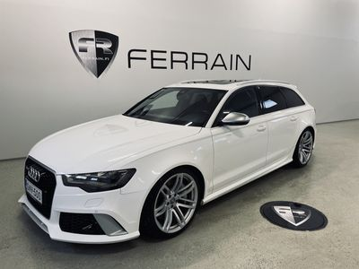 käytetty Audi RS6 4.0 V8 TFSI 560HV. AVANT *NAVI *AKTIIVI-VAKKARI *KOUKKU *TUTKAT