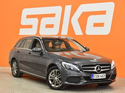 käytetty Mercedes C220 d 4Matic T A Premium Business ** Comand / Nahat / Kuljettajan istuin muistilla / LED / Sähköluukku / Vetokoukku **