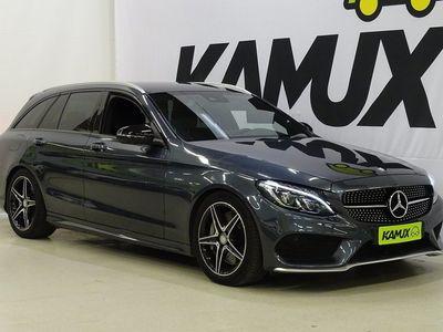 käytetty Mercedes C43 AMG AMG 450 4Matic / Neliveto / Navi / Vetokoukku / Tenorite gray metalliväri / ILS / Nahka-alcantra //