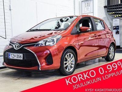käytetty Toyota Yaris 1,33 Dual VVT-i Active 5ov (MY15) NAVI, PERUUTUSKAMERA, VAK.NOP. SÄÄDIN, LOHKOLÄMMITIN, BT AUDIO, IR