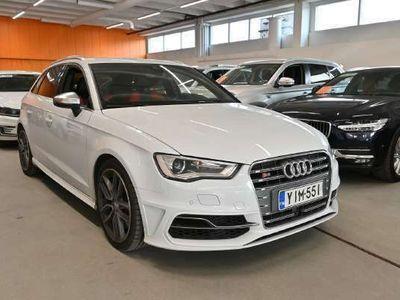 käytetty Audi S3 Sportback 2,0 TFSI 221 kW quattro S tronic ** Glacier White / Webasto / Kaistavahti / MMI navi / Pre Sense / ACC / Nahat **