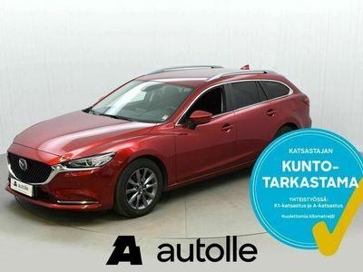käytetty Mazda 6 *HIENO* Sport Wagon 2,0 165 SKYACTIV-G Vision B Rahoituksella Tarkastettuna Kotiin toimitettuna!