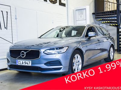 käytetty Volvo V90 D4 Business A (MY18.1) / 140KW / Webasto / adaptiivinen vakkari / Led / Puoli-nahka / Korko 1,49 % /