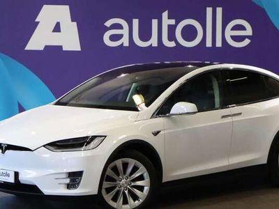 käytetty Tesla Model X 90D CPO TAKUULLA JA AP2 FSD AKTIVOITUNA 6-HLÖ ja