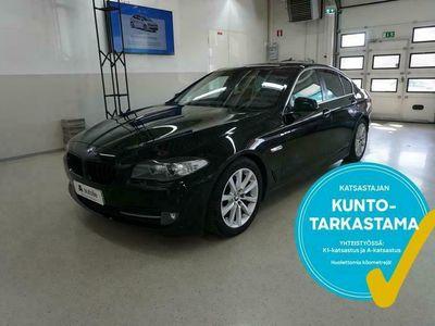 käytetty BMW 520 *NÄYTTÄVÄ* D Sport A F10 Sedan Business. Tarkastettuna, Rahoituksella. Kotiin toimitettuna!