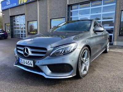 """käytetty Mercedes C200 CDi 136 HV SEDAN AMG AUTOMAATTI LED AUT.ILMASTOINTI ESP NAHKASISUSTUS PERUUTUSTUTKA 18"""" ALUT"""