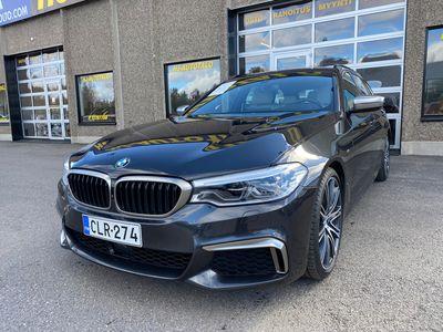 käytetty BMW 550 G31 3.0 D 400 HV DIESEL NELIVETO FARMARI VALKOINEN NAHKASISUSTUS LED WEBASTO 360 KAMERAT ILMASTOIDUT PENKIT VETO...