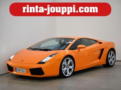 käytetty Lamborghini Gallardo 5,0 E Gear, 500 hv - Nero nahkaverhoilu, Arancio Borealis Oranssi helmiäisväri, Bluetooth, Xenon.