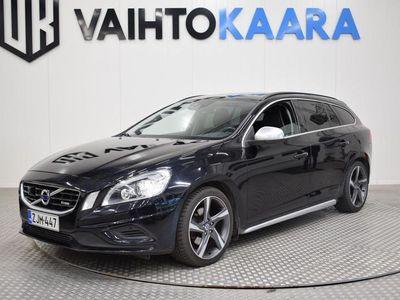 käytetty Volvo V60 D3 R-Design Aut. # Webasto, Vetokoukku, Xenon, Adaptiivinen vakkari, Parkkitutkat #