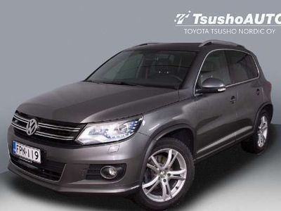 käytetty VW Tiguan R-Line 2,0 TDI 135 kW (184 hv) 4MOTION DSG-automaatti *Webasto, Lasikatto, Kamera, Nahat, Koukku ym*