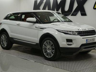 käytetty Land Rover Range Rover evoque Coupé 2,2 TD4 Prestige **Suomiauto / Merkkihuollettu / Ruskeat nahat / Meridian / Kamera**
