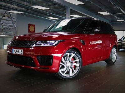 käytetty Land Rover Range Rover Sport P400e Plug-in Hybrid HSE Dynamic,Firenze Red, Drive Pro Paketti, Lasikatto,HUD, Navigointi, Meridian