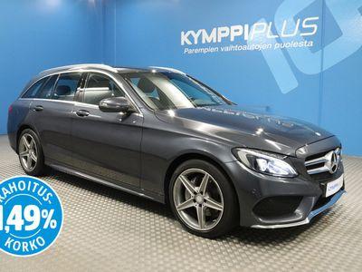 käytetty Mercedes C220 d T A AMG Premium Edition ** Navi / LED / Koukku / AMG-line / Rahoituskorko 1,49%**