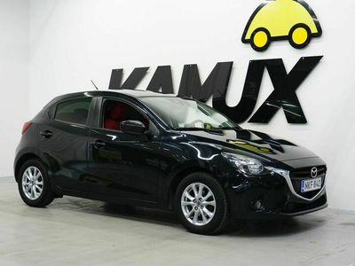 käytetty Mazda 2 5HB 1,5 SKYACTIV-G Premium Plus Red 5MT 5ov AC3 / 1-Om. Suomi-Auto / Punainen sisusta / Siisti / BT-Audio /