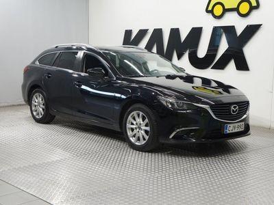 käytetty Mazda 6 Sport Wagon 2,2 SKYACTIV-D AWD Premium Plus 6AT 5ov NELIVETO / Suomi-auto / Navi / BI-Xenon valot /