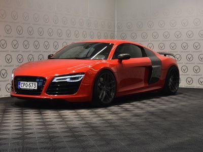 käytetty Audi R8 Coupé 5,2 V10 FSI quattro S tronic - 600hv, F1-putkisto, VF-E. Softa, Carbon, B&O, Kamera, Magnetic Ride, Recaro, H&R, Z-Racing!